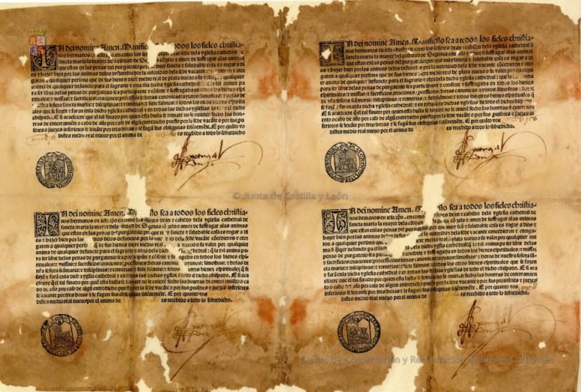 (c)CCRBC_Bulas+de+indulgencias+para+la+Catedral+de+Segovia.+1498.jpg